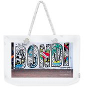 Bondi Beach Graffiti - Photograph By Kaye Menner Weekender Tote Bag