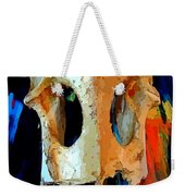 Bone And Paint Abstract Weekender Tote Bag