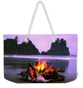Bonfire On The Beach, Point Of The Weekender Tote Bag
