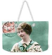 Bonne Annee Vintage Woman Weekender Tote Bag