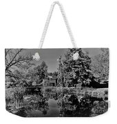 Bonneyville Grist Mill          Black And White        Autumn        Indiana Weekender Tote Bag