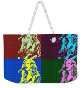 Bonnie Raitt Pop Art Poster Weekender Tote Bag