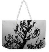 Bonsai Black And White Weekender Tote Bag