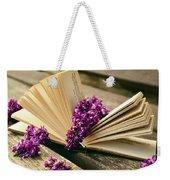Book And Flower Weekender Tote Bag