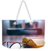 Book And Glasses Weekender Tote Bag
