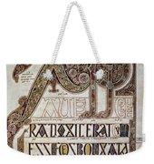 Book Of Lindisfarne Initial Weekender Tote Bag