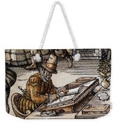 Bookkeeper, 16th Century Weekender Tote Bag