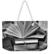 Books In Black And White Weekender Tote Bag