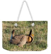Booming Greater Prairie Chicken 5 Weekender Tote Bag