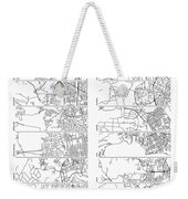 Boonies, Burbs And Boutiques Of Pi Weekender Tote Bag