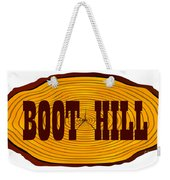 Boot Hill Log Sign Weekender Tote Bag