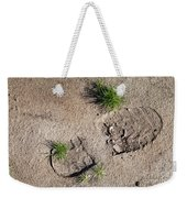 Boot Print In The Desert Weekender Tote Bag