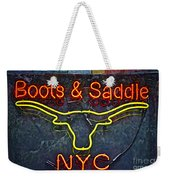 Boots And Saddle Nyc Weekender Tote Bag