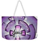 Border-crossing Jesus Weekender Tote Bag