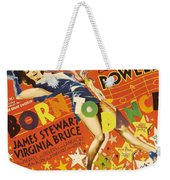 Born To Dance 1936 Retro Movie Poster Weekender Tote Bag