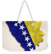 Bosnia And Herzegovina Map Art With Flag Design Weekender Tote Bag