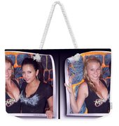 Bossom Buddies - Gently Cross Your Eyes And Focus On The Middle Image Weekender Tote Bag
