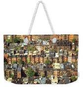 Boston Brownstone Architecture Weekender Tote Bag