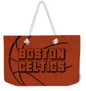 Boston Celtics Leather Art Weekender Tote Bag