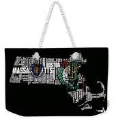 Boston Celtics Typographic Map Weekender Tote Bag
