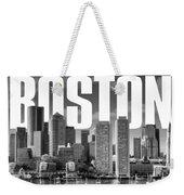 Boston Cityscape Weekender Tote Bag