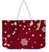 Boston College Eagles Christmas Card Weekender Tote Bag