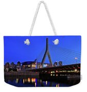 Boston Garden And Zakim Bridge Weekender Tote Bag by Rick Berk