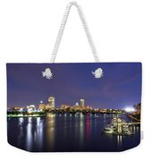 Boston Harbor Skyline Weekender Tote Bag by Joann Vitali