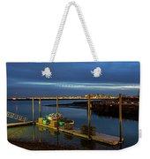 Boston Ma Belle Isle Boat Pier And Skyline Logan Airport Weekender Tote Bag