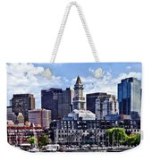Boston Ma - Skyline With Custom House Tower Weekender Tote Bag