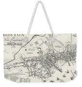 Boston Map, 1722 Weekender Tote Bag
