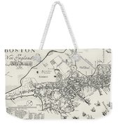 Boston Map, 1722 Weekender Tote Bag by Granger