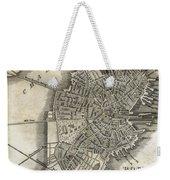 Boston Map Of 1842 Weekender Tote Bag