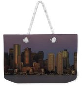 Boston Moonset And Sunrise Weekender Tote Bag