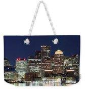 Boston Night Skyline Panorama Weekender Tote Bag