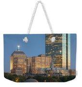 Boston Night Skyline Iv Weekender Tote Bag