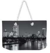 Boston Night Skyline V Weekender Tote Bag by Clarence Holmes
