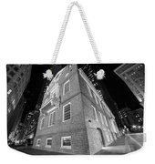 Boston Old State House Boston Ma Angle Black And White Weekender Tote Bag