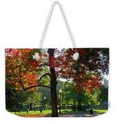 Boston Public Garden Autumn Tree Morning Light Walk In The Park Weekender Tote Bag