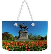 Boston Public Garden Tulips Boston Ma Weekender Tote Bag