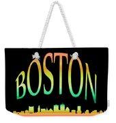 Boston Skyline 10 Weekender Tote Bag