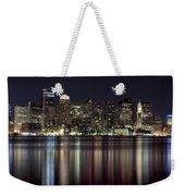Boston Skyline At Night Weekender Tote Bag