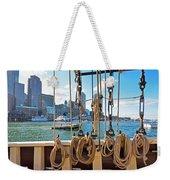 Boston Skyline From The Boston Harbor Weekender Tote Bag