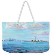 Boston Skyline Weekender Tote Bag by Laura Lee Zanghetti