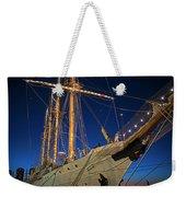 Boston Tall Ship Flags Boston Ma Sailors Blue Sky Weekender Tote Bag
