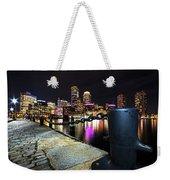 Boston Waterfront Skyline View Boston Ma Weekender Tote Bag