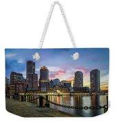 Boston,ma Sunset Weekender Tote Bag
