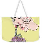 Botanical Drag Weekender Tote Bag