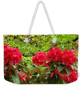 Botanical Garden Art Prints Red Rhodies Trees Baslee Troutman Weekender Tote Bag