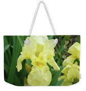 Botanical Yellow Iris Flower Summer Floral Art Baslee Troutman Weekender Tote Bag